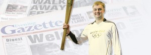 Callum Carrying the Oylmpic Torch